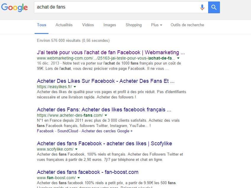 risque facebook entreprise compte